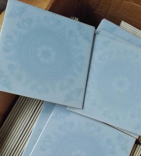 azulejo decorado san lorenzo 15x15 reposición celeste
