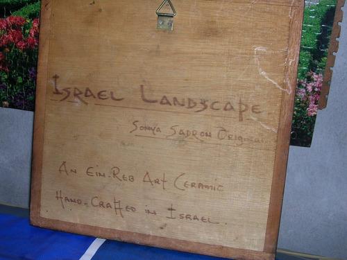 azulejo firmado - sonya sadron original