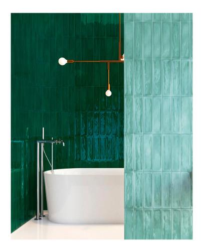 azulejo flow neo mint brillante 7,7x30,5 1ra cal roca incepa