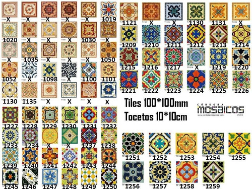 azulejo importados 10*10 cm tocetos alto transito piso/pared