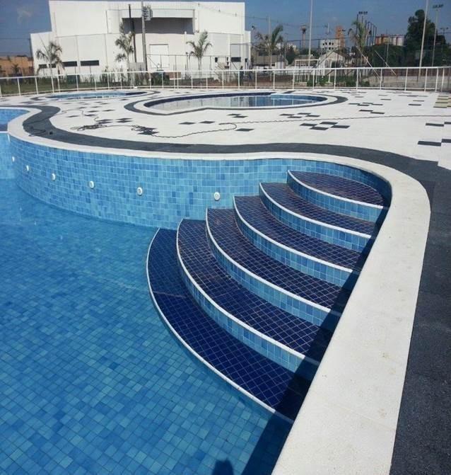 Azulejo para piscina cor mesclado itapu azul 10x10 telado - Azulejos para piscina ...