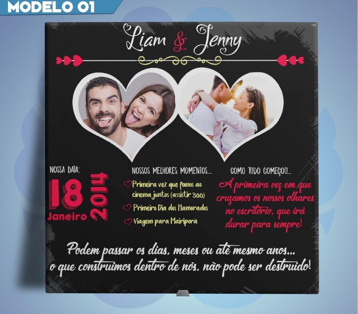b629745e6da018 Azulejo Personalizado C/1ou2 Foto Presente Dia Dos Namorados