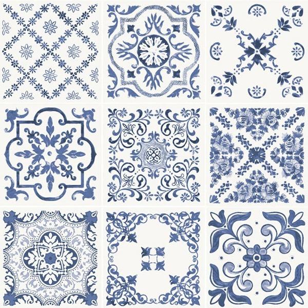 azulejo portugu s kit 52 5x52 5 com 9 desenhos digitais