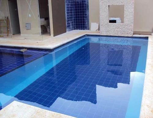 Azulejo revestimento piscina e reas externas safira 15x15 r 26 90 em mercado livre - Azulejos piscinas ...