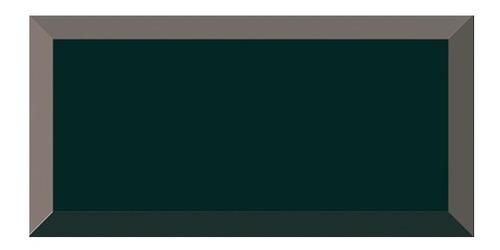 azulejo subway biselado negro 7.5x15 importado x unidad
