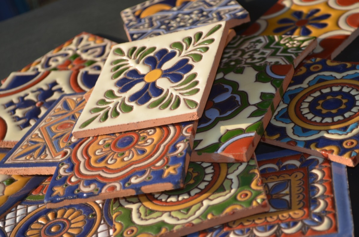 Azulejo Talavera Cenefa Para Cocina De Chiles 1pz 8x20cm 40 00