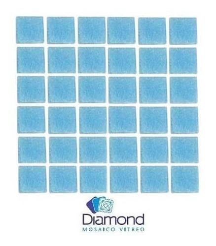 azulejo veneciano 2x2 azul claro m2