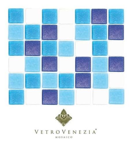 azulejo veneciano 2x2 azul mezcla malibu m2