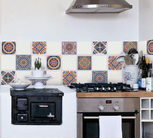 azulejo vinilo autoadhesivo 16241 muresco 6u 15 x 15 cm soul