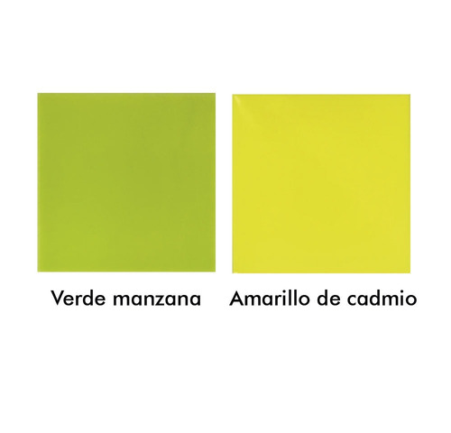 azulejos acuarela 15x15 color amarillo cadmio verde manzana