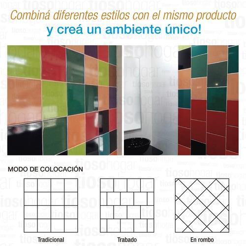 azulejos acuarela 15x15 color colorado verde ingles ladrillo