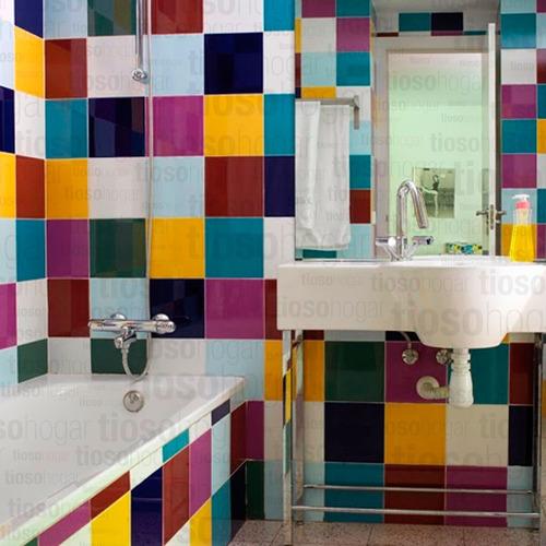 azulejos acuarela 15x15 color negro rubi ocre azul cobalto