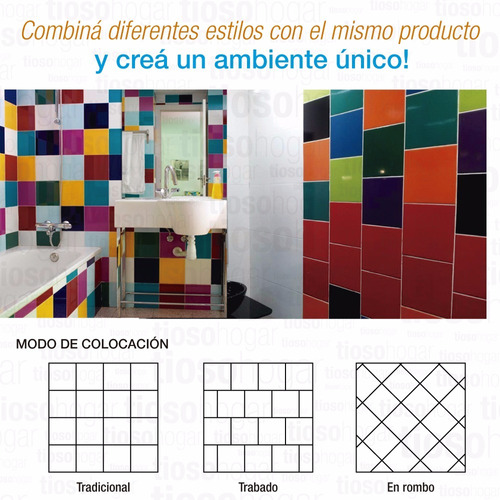 azulejos acuarela 15x15 decoracion colores vivos mosaiquismo