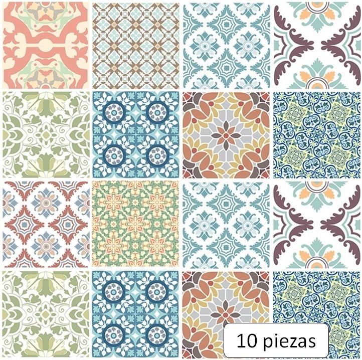 Azulejos Adhesivos Mediterraneo B Mosaico Impermeable