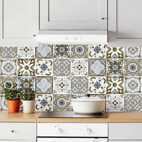 azulejos autoadhesivos laminas 32 unidades 15x15cm port