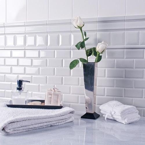 azulejos ceramicos subway biselado 7.5x15 oferta 1ra calidad