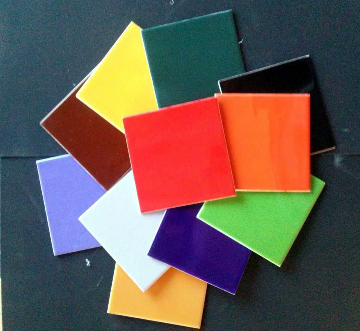 Azulejos de ceramica de colores baldosas 15x15 para for Azulejo 15x15