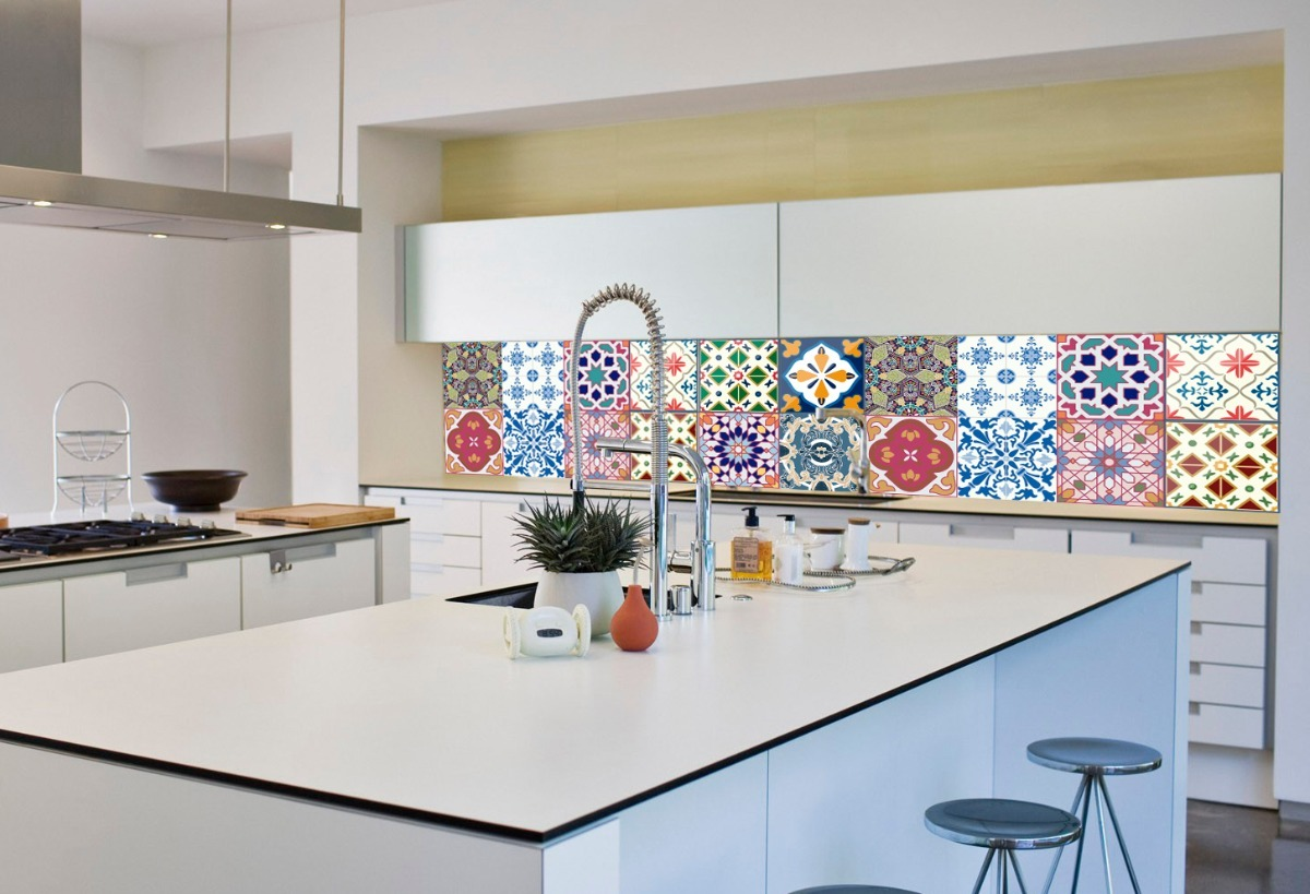 Vinilos azulejos bao azul affordable vinilos decorativos empapelado adhesivo pared azulejo - Jorge fernandez azulejos ...