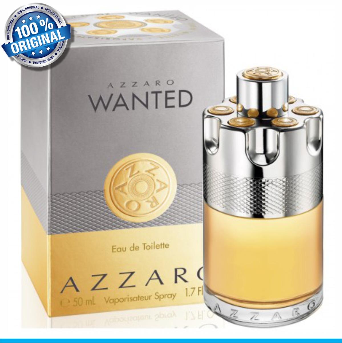 515eb9885b Azzaro Wanted Masc. 50ml Edt 100% Original Envio Imediato - R  231 ...