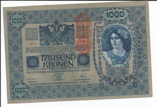 b 1 austria billete de 1000 coronas