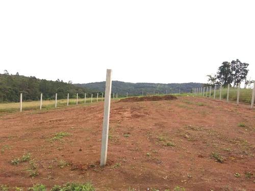 b 1.000 m2 á 300 mts do asf, 100% plaino prox comercios