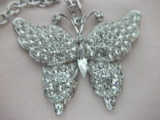 b. antigo - bijuteria italiana borboleta cravejada em stras
