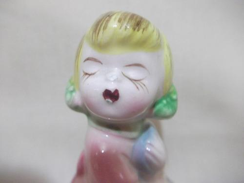 b. antigo - boneca ou menina saleiro em porcelana alemã
