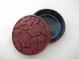 b. antigo - caixa  antiga ou porta jóias em laka chinesa