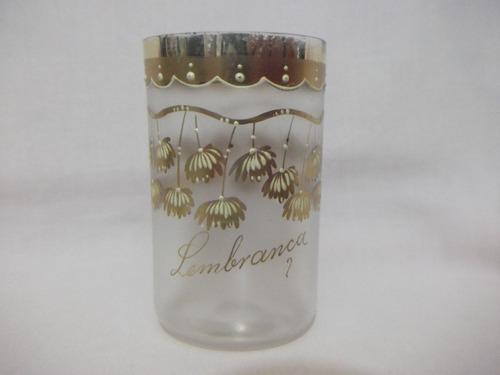 b. antigo - copo em cristal veneziano decorado com flores