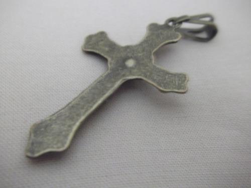 b. antigo - crucifixo italiano em metal patina ouro velho