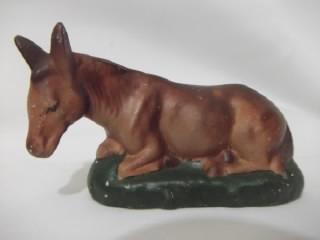 b. antigo - figura de presépio antigo boi e jumentinho