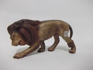 b. antigo - leão em papel machê alemão miniatura antiga