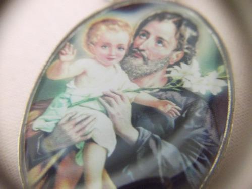 b antigo- medalha s josé dupla face com oração frete grátis
