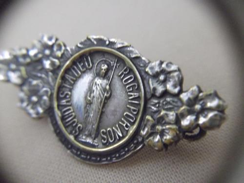 b. antigo - medalha sacra antiga s. judas tadeu frete grátis