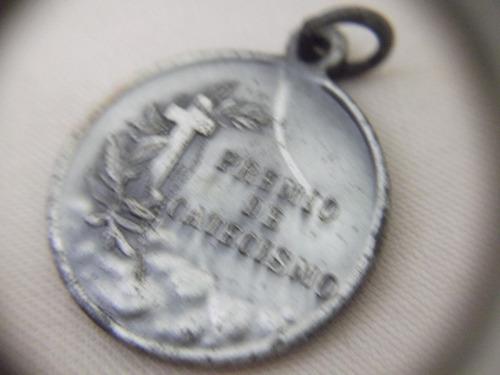 b. antigo - medalha sacra catequese com coração de jesus