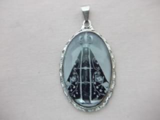 b. antigo - medalha sacra de n. sra. aparecida frete grátis