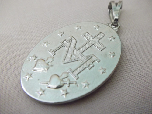b. antigo - medalha sacra de n. sra. da abadia frete grátis