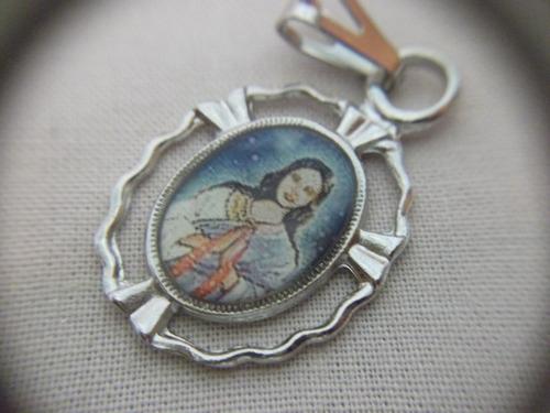 b. antigo - medalha sacra de santa sara kali frete grátis