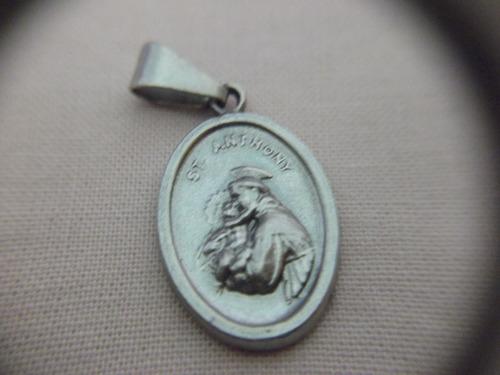 b. antigo - medalha sacra de santo antonio frete grátis