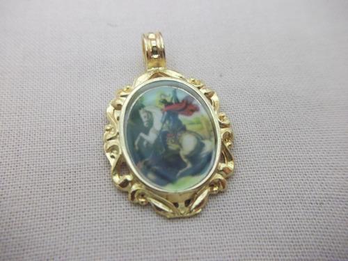 b. antigo - medalha sacra de são jorge frete grátis