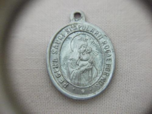 b antigo- medalha sacra regina sacri scapularii frete grátis