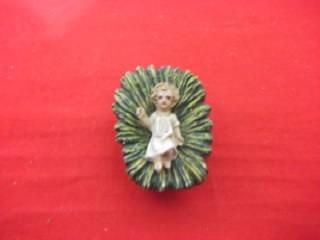 b. antigo - menino jesus miniatura em papel machê alemão