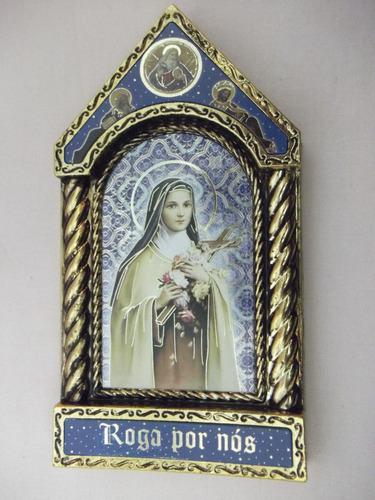 b. antigo - quadrinho sacro com imagem de sta. therezinha