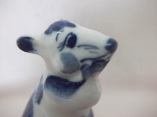 b. antigo - ratinho miniatura em porcelana russa rpr1