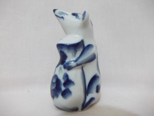 b. antigo - ratinho miniatura em porcelana russa rpr2