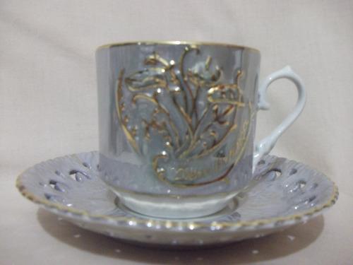 b. antigo - suntuosa xícara de chá em porcelana steatita