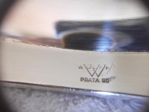 b. antigo - travessa wolff média prata 90 modelo rosinhas