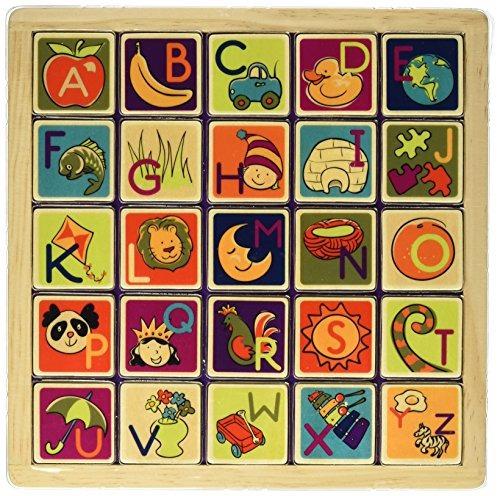 b. magnética alfabética puzzle plank