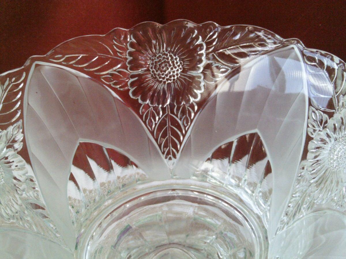 B passado antiga fruteira ou centro de mesa em cristal for Centro de mesa de cristal