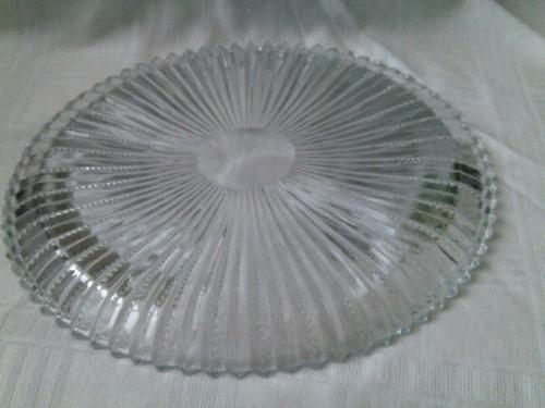 b. passado - antigo prato para bolo em cristal tcheco